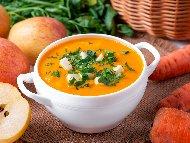 Рецепта Постна крем супа с ябълки, моркови и картофи